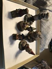 tom clark gnomes 6 figurines used no boxes
