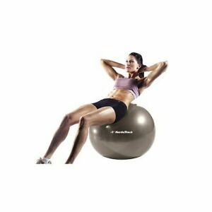 """Nordictrack Excercise Ball 75cm/30"""" - gray -comes with manual and mini hand-pump"""