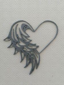 Angel wings heart Wall Art 3d decor, florest, bouquet, memorial