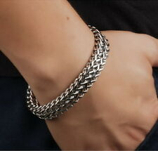 """Men's High Quality 316L Stainless Steel Thick Bracelet 23.5cm 9.25"""" Long"""