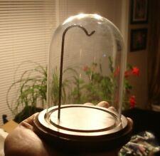 small Civil War Keepsake Protective Dome Globe tabletop wood glass display hook