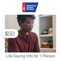 $50 Charitable Donation For: One (1) Person with Life Saving Information