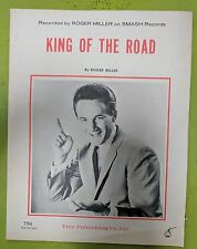 ROGER  MILLER  KING  OF  THE  ROAD ORIG. 1965   SHEET  MUSIC