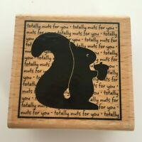 Hampton Art Studio G Stamp Squirrel Totally Nuts for You Words Love Card Making