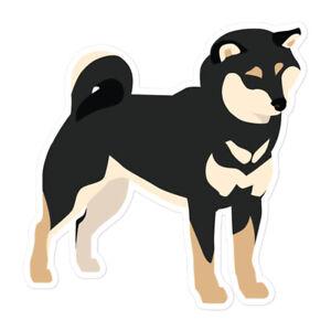 Black & Tan Shiba Inu Dog Owner Lover Vinyl Sticker