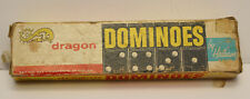 Vintage 1950's 1960's Set of Dragon Dominoes by Halsam Set No. 622 28 Pieces GUC