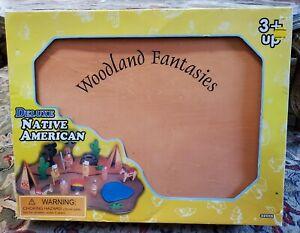 Woodland Fantasies – Deluxe Native American Wood Playset, NIB, 200l