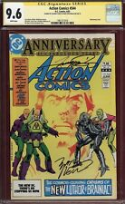 CGC SS 9.6 Signed George Perez Art & Marv Wolfman Action Comics #544 Superman