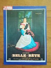 Affichette cinéma 30 x 22 cm La belle et la bête Jean Marais Josette Day
