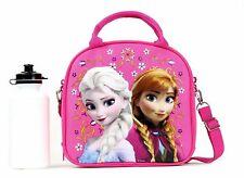 Frozen Summer Fun Disney Anna Elsa Pink Insulated Lunch Bag Water Bottle