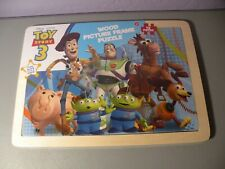 NEW Sealed Disney Toy Story 3 Wood Picture Frame 12 Piece Wooden Puzzle Age 2+