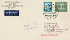 Eröffnungsflug LH 124 Frankfurt-Amsterdam-London 1964 Streckeneröffnung