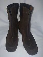Womens AQUATALIA Brown suede Zip up Wedge boots Size 9