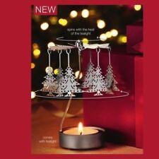 Spinning Tealight Holder Carousel Christmas Tree BNIB