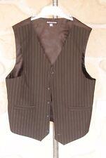 Gilet de costume marron neuf taille 14 ans marque Nyeroket (b)