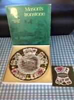 Vintage Retro Christmas Plate Masons Ironstone Hampton Court Palace 1979