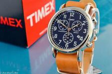 NEW MENS TIMEX VINTAGE MILITARY AVIATOR TYPE MIDNIGHT BLUE CHRONOGRAPH WATCH