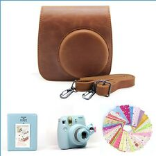 Gmatrix 4 in 1 Fujifilm Instax Mini 8 Case Bag Accessory Bundle Best Gift Brown