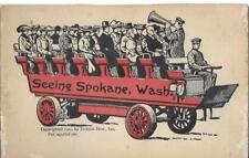 Seeing Spokane WA Vintage postcard postally unused Folding w/ 24 tiny views 1907