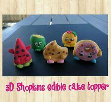 5 EDIBLE Shopkins Cake Cupcake Topper Baby Shower Birthday Christening cute