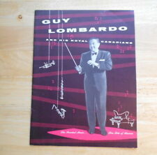 Guy Lombardo And His Royal Canadians Concert Program