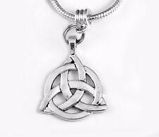 Celtic knot charm Irish charm fits European bracelet or necklace