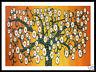 A1 frame aboriginal inspired art tree life orange landscape print jane crawford