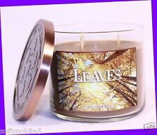 Bath & Body Works LEAVES Scented 3-Wick Filled Candle 14.5 oz FALL 2014