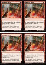 4x MAGMATIC INSIGHT Magic Origins MTG Red Sorcery Unc