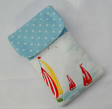 Phone cover,Cath Kidston Padded mobile case,Handmade sleeve,fabric pouch,Flip