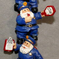 "Christmas Ornament POLICE OFFICER KURT ADLER KSA Stacked Cops 5"" USA SELLER"