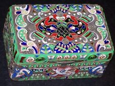 RUSSIAN IMPERIAL SILVER 88 CLOISONNE ENAMEL BOX ANTIQUE FEODOR RUCKERT RUSSIA