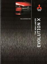 Mitsubishi Lancer Evolution X 2008-12 UK Market Brochure GS GSR FQ 300 330 360