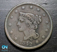 1842 Braided Hair Large Cent --  MAKE US AN OFFER!  #B3279