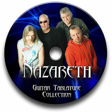 NAZARETH ROCK GUITAR TABS TABLATURE SONG BOOK SOFTWARE CD