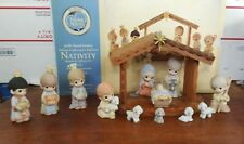 PRECIOUS MOMENTS 30TH ANNIVERSARY DELUXE COLLECTOR'S EDITION 13 PC NATIVITY SET