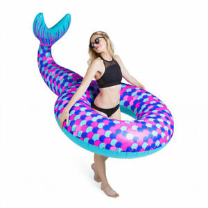 BIG MOUTH GIANT MERMAID TAIL POOL FLOAT - NEW IN BOX - RRP £28