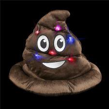 Light-Up Emoticon Poop Hat Emoji Decoration Costume Accessories Plush
