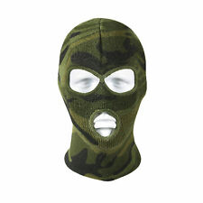 Three Hole Acrylic Face Mask - Woodland Camouflage Military  Rothco 5596