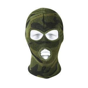Three Hole Acrylic Face Mask - Woodland Camouflage Military  Rothco 5596