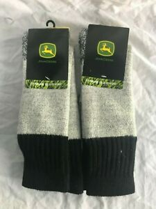 "JOHN DEERE Ladies Socks Sox Green /& Yellow With /""JOHN DEERE/"" Printed on /& LOGO!!"