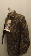 Vtg NEW Mossy Oak Original Tree Stand Camo Shirt sz M USA Made Cotton Chamois
