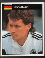 Orbis 1990 World Cup Football Sticker - No 78 - Gunnar Sauer - West Germany