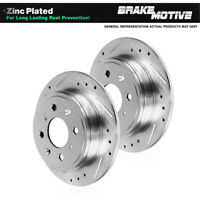 For Ford Mustang LTD Mercury StopTech Front Slotted Brake Rotors Disc Set Pair
