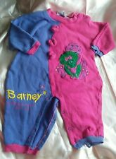 Vintage Mighty Mac Lyons Group 1992 Barney Baby Bop 18 Months Child Baby Romper