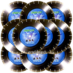 "14""x10pcs 12.9MM SEG CONCRETE/MASONRY/PAVER/STONE Diamond Blade +FREE SHIPPING"