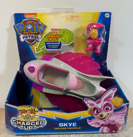 Skye Mighty Pups CHARGED UP Paw Patrol Deluxe Vehicle Action Figure Lights Sound
