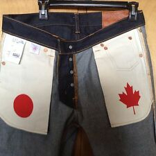 1ST Limited Edition Momotaro x Naked & Famous Selvedge Denim Blue Jeans 33 EUC