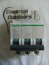 SCHNEIDER ELECTRIC 10 AMP TYPE C 10 kA TRIPLE POLE MCB CIRCUIT BREAKER KQ10C310