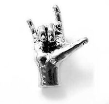 """925 Sterling Silver Sign Language """"I Love You"""" Charm"""